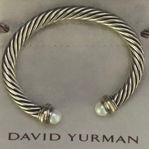 David Yurman Cable Classic with Pearl and 14k gold